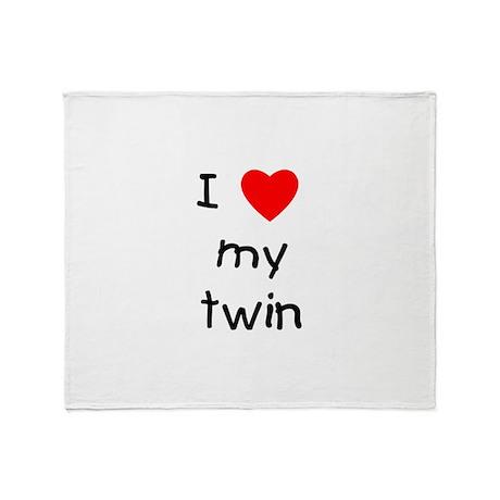 I love my twin Throw Blanket