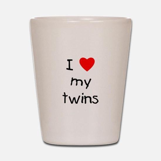 I love my twins Shot Glass