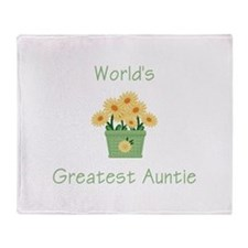 World's Greatest Auntie (y) Throw Blanket