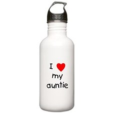 I love my auntie Sports Water Bottle