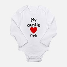 My auntie loves me Long Sleeve Infant Bodysuit