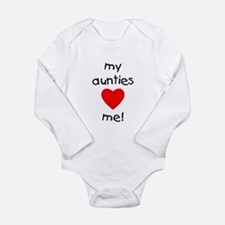 My aunties love me Long Sleeve Infant Bodysuit