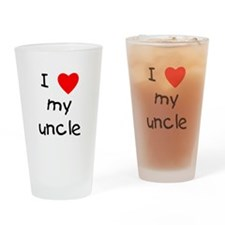 I love my uncle Drinking Glass