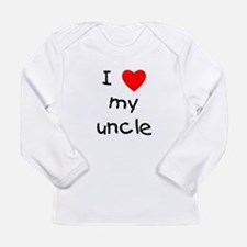 I love my uncle Long Sleeve Infant T-Shirt
