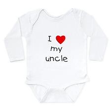 I love my uncle Long Sleeve Infant Bodysuit