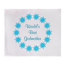 World's Best Godmother (lt bl Throw Blanket