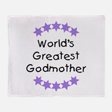 World's Greatest Godmother Throw Blanket