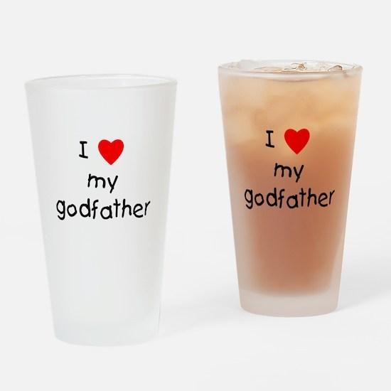 I love my godfather Drinking Glass