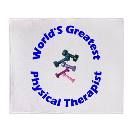 World's Greatest PT (blue) Throw Blanket