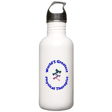 World's Greatest PT (blue) Stainless Water Bottle
