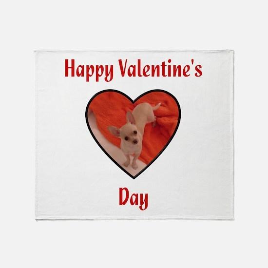 Happy Valentine's Day (chi) Throw Blanket