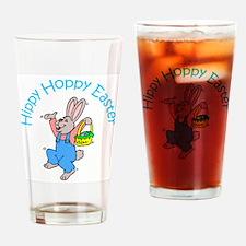 Hippy Hoppy Easter Drinking Glass