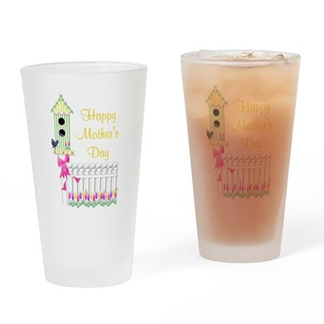 Happy Mother's Day (birdhouse Drinking Glass