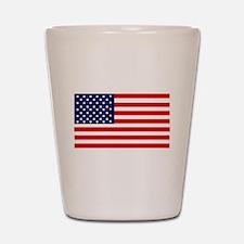 American Flag Shot Glass