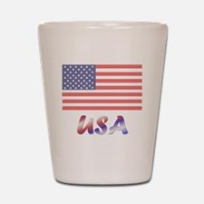 USA (flag) Shot Glass