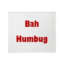 Bah Humbug (red) Throw Blanket