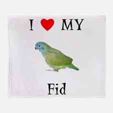I love my Fid (feathered kid) Throw Blanket