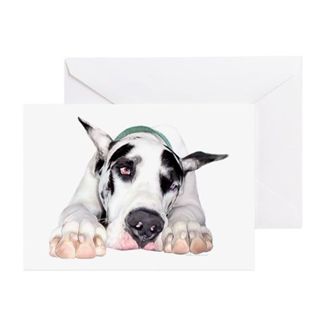 Great Dane Shy Harlequin Greeting Cards (Pk of 10)