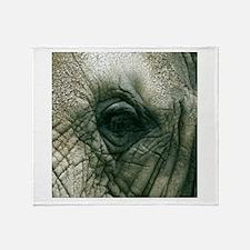 Elephant (close up) Throw Blanket