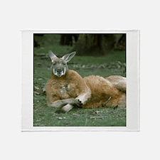 Lounging Kangaroo Throw Blanket
