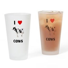 I love cows Drinking Glass