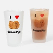 I love guinea pigs Drinking Glass