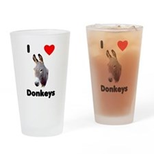 I love donkeys Drinking Glass