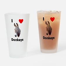 I love donkeys Drinking Glass