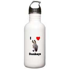 I love donkeys Water Bottle