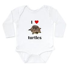 I love turtles Long Sleeve Infant Bodysuit