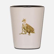 Gold Sitting Dragon Shot Glass