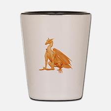 Orange Sitting Dragon Shot Glass