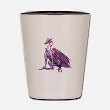 Purple Sitting Dragon Shot Glass