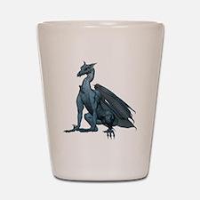 Sitting Blue Dragon (2) Shot Glass
