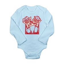 Red Pro Union Long Sleeve Infant Bodysuit
