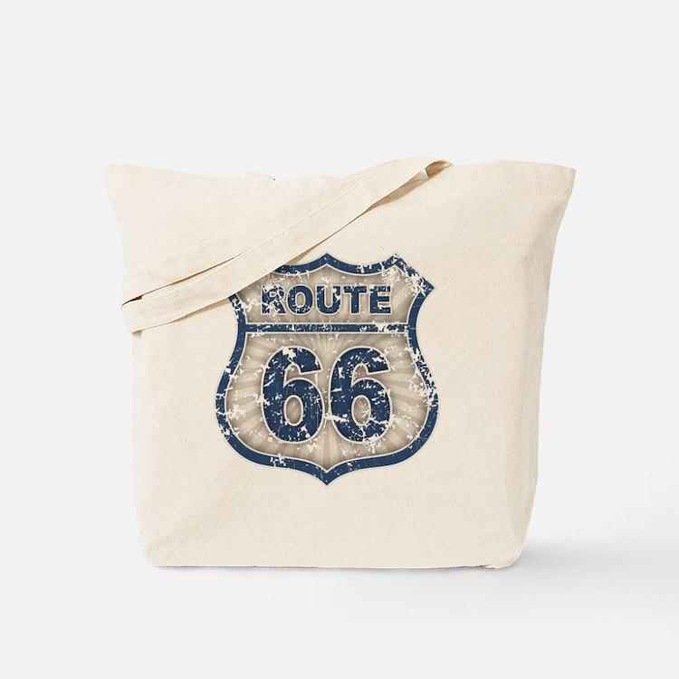 Route 66 Bluetandist Tote Bag