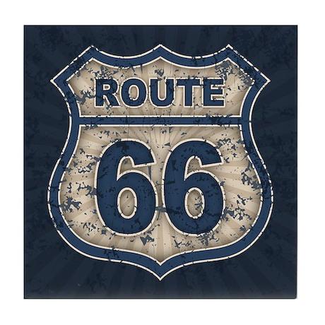 Route 66 Bluetandist Tile Coaster