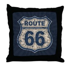Route 66 Bluetandist Throw Pillow