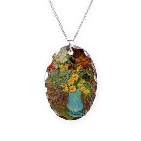 Vincent Van Gogh Necklace Oval Charm