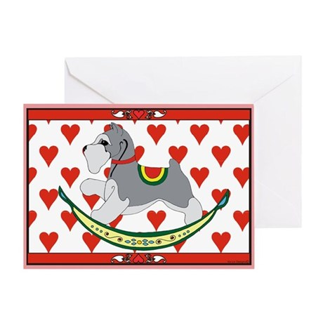 Rocking Dog Schnauzer Greeting Card
