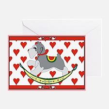 Rocking Dog Schnauzer Greeting Card
