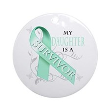My Daughter is a Survivor Ornament (Round)