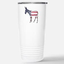 Faded American Donkey Travel Mug