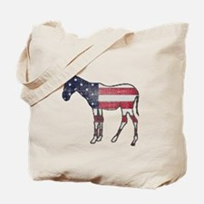 Faded American Donkey Tote Bag