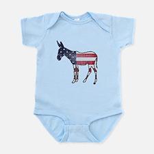 Faded American Donkey Infant Bodysuit