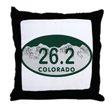 26.2 Colo License Plate Throw Pillow