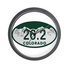 26.2 Colo License Plate Wall Clock