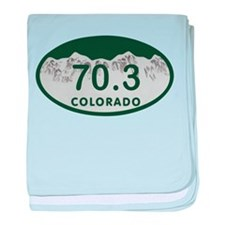 70.3 Colo License Plate baby blanket