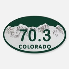 70.3 Colo License Plate Sticker (Oval)