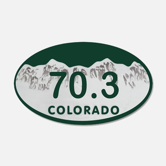 70.3 Colo License Plate Wall Decal
